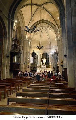 Romanesque Medieval Church In Mazan
