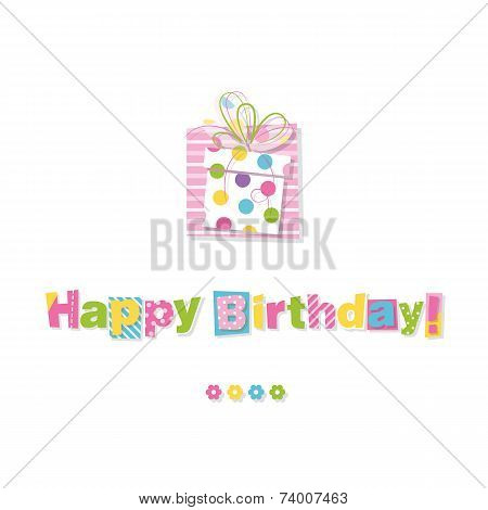 happy birthday gift greeting card