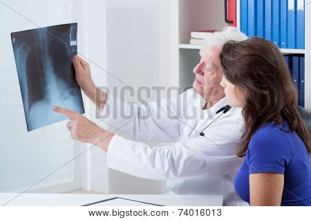Doctor Analyzing X-ray
