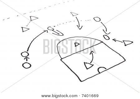 Jahresplänen Plan des Fussballsports