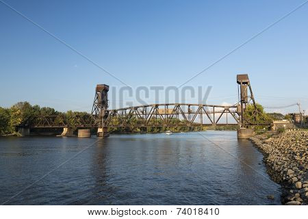 Railroad Lift Bridge.