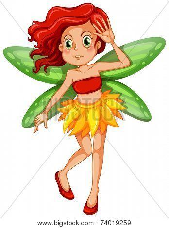 Illustration of a single fairy