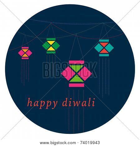 Diwali lamp vector graphic. A dangler.