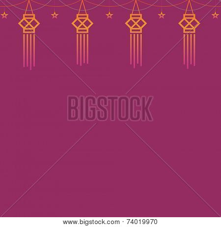 A design template with Diwali lantern motif.