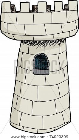 Isolated Single Castle Tower