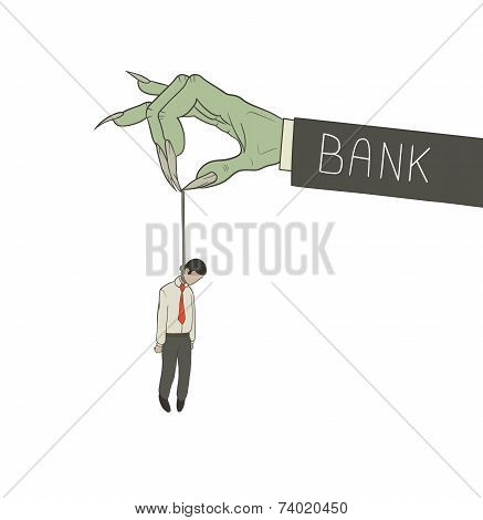 hanged by bank