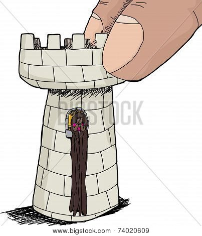 Cute Rapunzel In Chess Piece