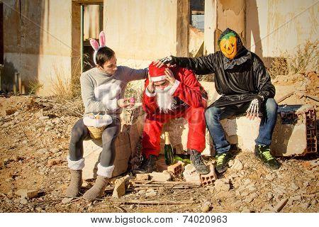 Drepressed  Santa