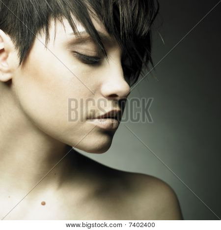 Portrait Of Beautiful Sensual Woman