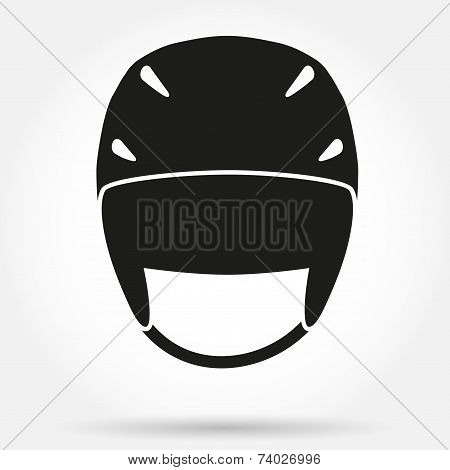 Silhouette symbol of Classic snowboard Ski helmet.