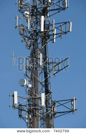 Close up of cell tower