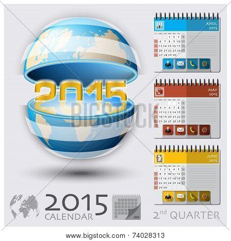 Second Quarter Of 2015 Calendar Global Map