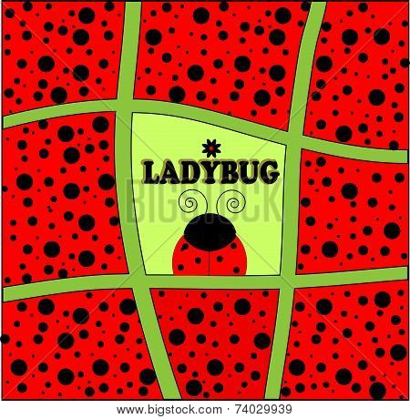 ladybug background invitation card