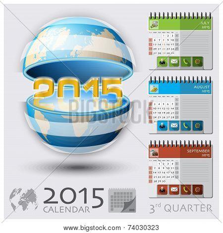 Third Quarter Of 2015 Calendar Global Map