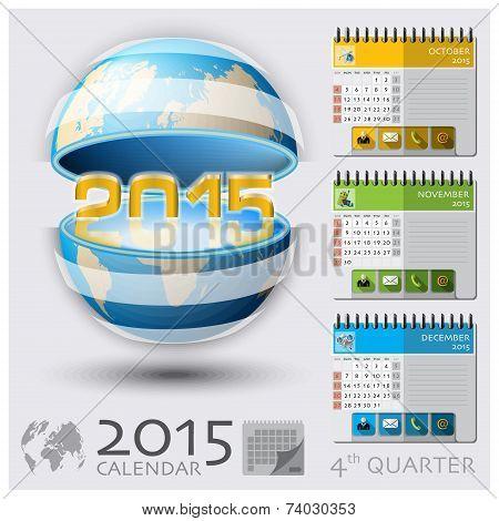 Fourth Quarter Of 2015 Calendar Global Map