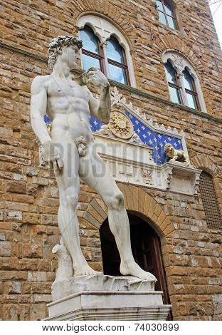 Sculpture On Piazza Della Signoria In Florence