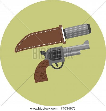 Vector Weapons - knife and revolver