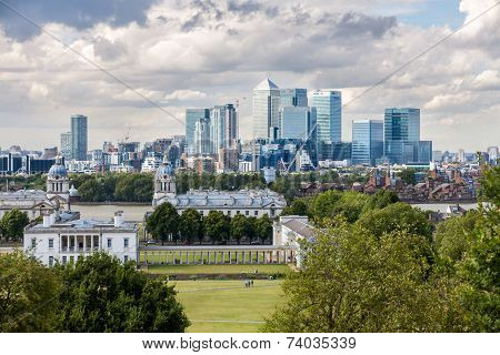 The Skyline Of Canary Wharf
