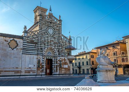 Cathedral Santo Stefano Of Prato In Italy