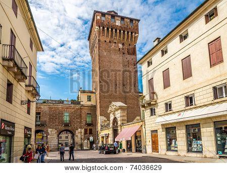 Porta Castello Tower In Vicenza