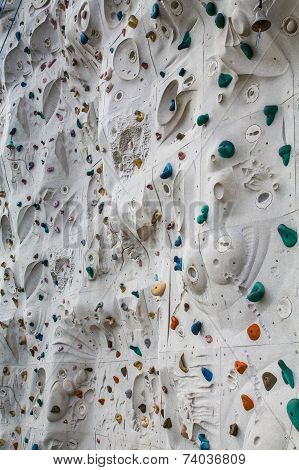 Rock Climbing Wall With Many Curves And Humps