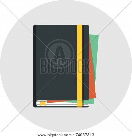 Copybook with Elastic Band