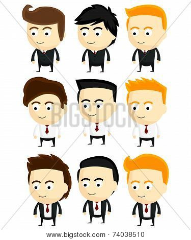 Business Man Vector Collection