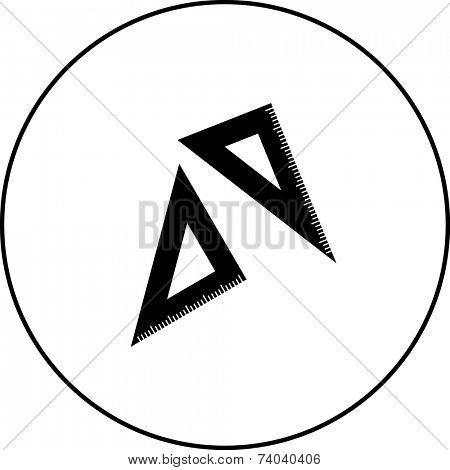 triangle rulers symbol