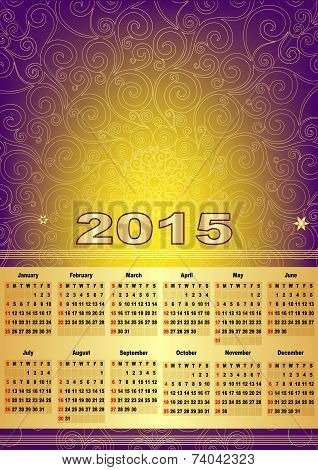 Calendar For 2015 With Mesh