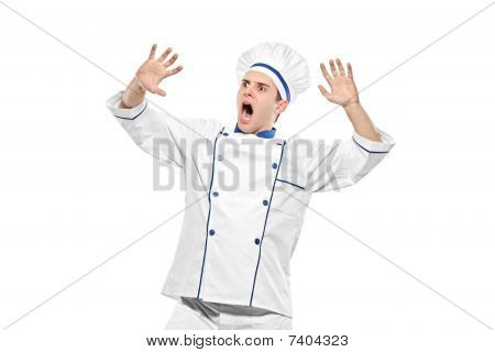 Stunned chef