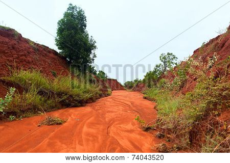 The Red Canyon At Binh Thuan, Vietnam.