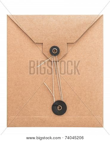 Retro Style Post Mail Envelope. Recycled Cardboard Paper