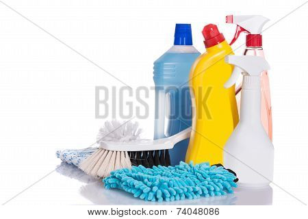 Cleaning Liquids And Supplies