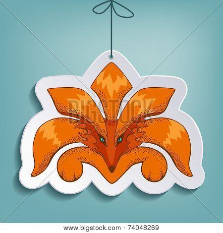 Fox flat paper toy