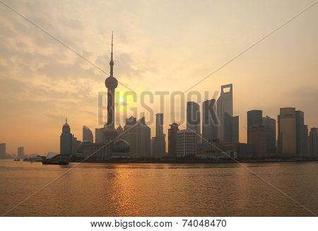 The Shanghai Skyline at dawn