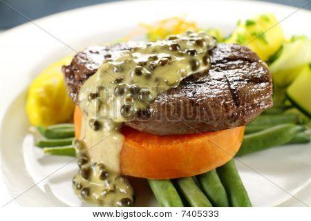 Steak On Sweet Potato