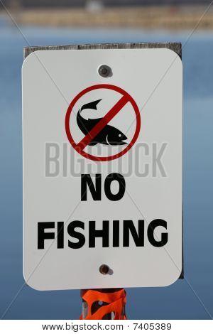 No pesca permitida signo