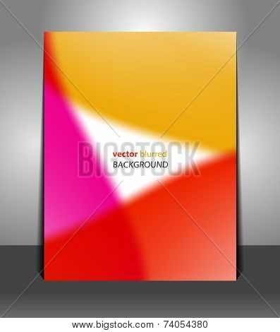 Stylish orange-red-pink poster