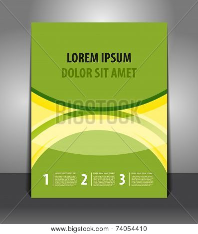 Vector design green-yellow flyer