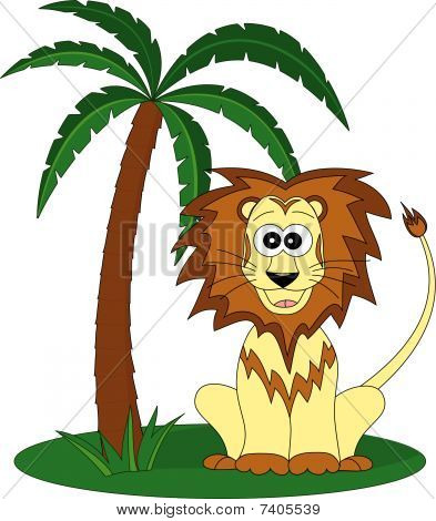 Lion and the palm