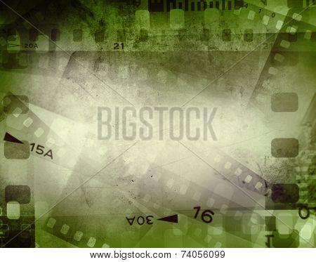 Film negative frames, film strips border