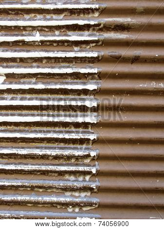Rusted Metal Background  Divided Into Two Parts