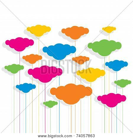 colorful cloud design pattern background vector
