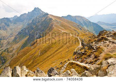 View From Kasprowy Wierch In Tatra Mountains