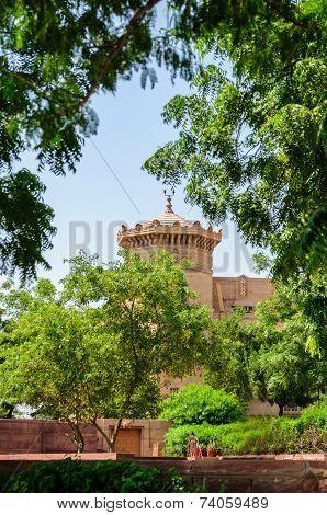 Outside View Of Umaid Bhawan Palace Of Rajasthan