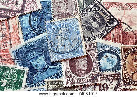Vintage Belgium stamps