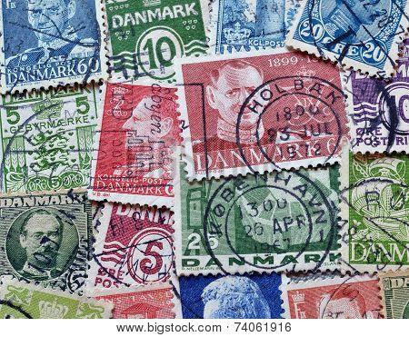 Vintage Denmark stamps