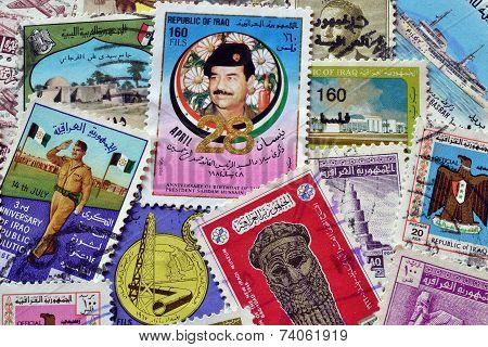 Iraq on stamps