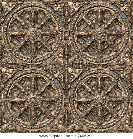 Bronzed Seamless Decorative Pattern.