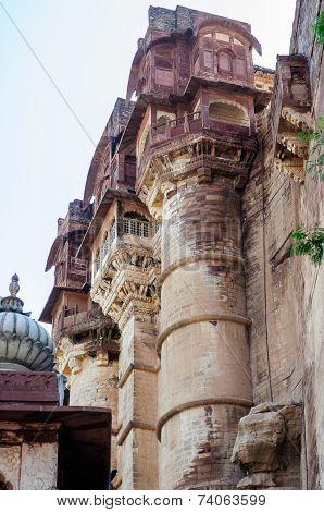 Different Parts Of Mehrangarh Fort, Rajasthan, Jodhpur, India